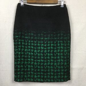 Talbots Ombre Houndstooth Pencil Skirt 2